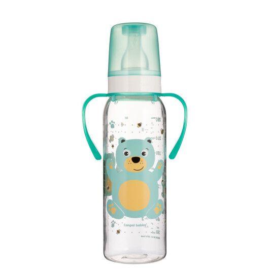"""Пляшка 250 мл з малюнком і ручкою (BPA FREE), колекція """"Кольорова ферма"""""""