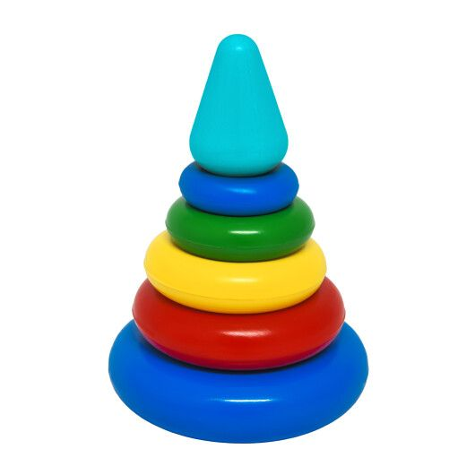 """Іграшка розвиваюча """"Пірамідка"""" мала в коробці, Tigres - 2"""