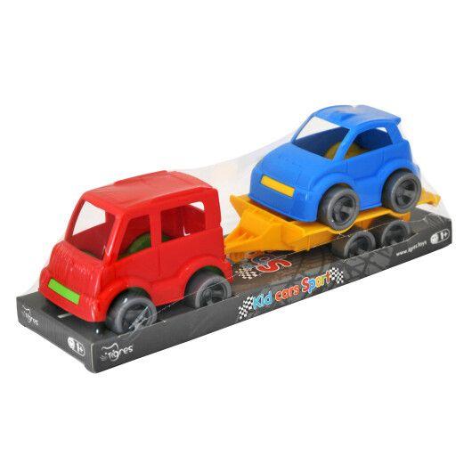 """Набір авто """"Kid cars Sport"""" 3 ел. на планшетці (автобус + гольф)"""