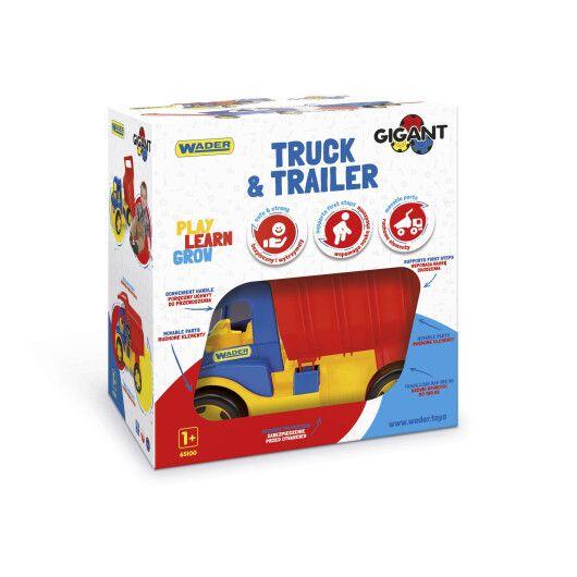 """Вантажівка """"Гігант"""" + іграшка візок - 4"""