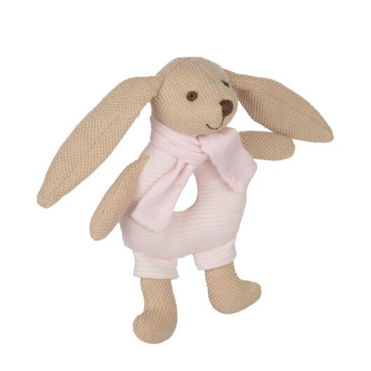 Canpol babies Іграшка-брязкальце м'яка Кролик - рожева - 2
