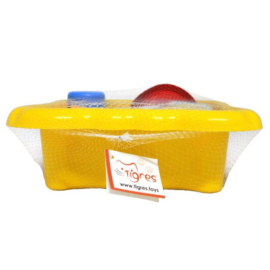 Набір до піску та води з млинком 7 ел. (жовтий) - 3