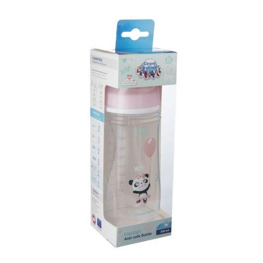 Пляшка з широким отвором антиколікова Easystart - Toys 300 мл рожева лялька - 2