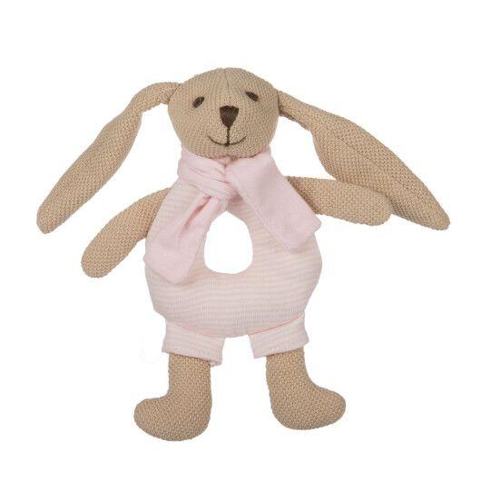 Canpol babies Іграшка-брязкальце м'яка Кролик - рожева