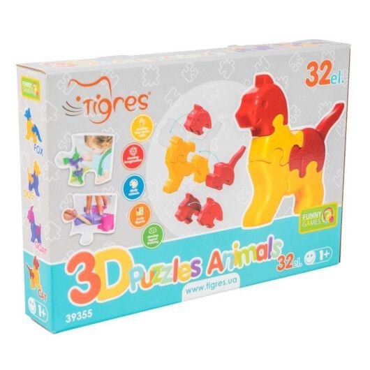 Іграшка розвиваюча: 3D пазли - Тваринки (4шт.) - 32 ел. - 3