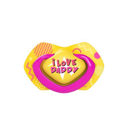 Canpol babies Пустушка силіконова симетрична 6-18 міс NEON LOVE 2 шт. - рожева - 4
