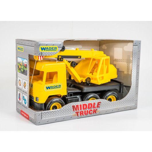 """Авто """"Middle truck"""" кран (жовтий) в коробці - 2"""