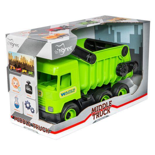 """Авто """"Middle truck"""" самоскид (зелений) в коробці - 2"""