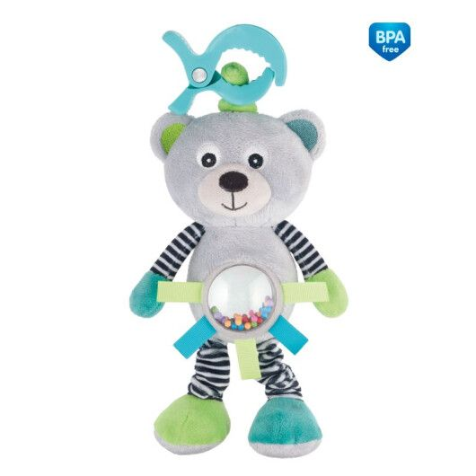 Canpol babies Іграшка м'яка вібруюча Bears - коралова