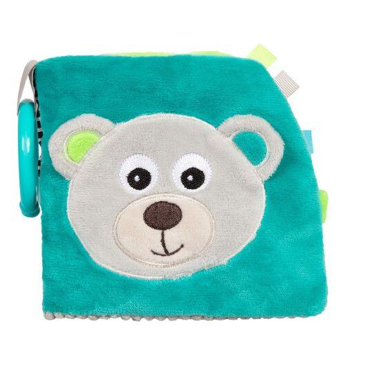 Canpol babies Іграшка-книжечка м'яка розвиваюча BEARS - сіра