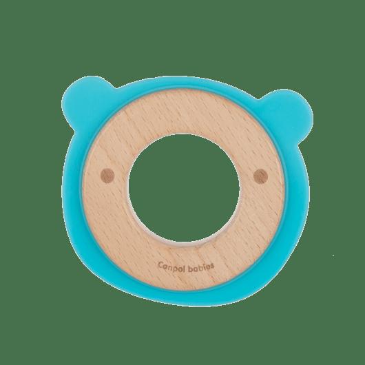 Canpol babies Іграшка-прорізувач Ведмедик (дерев'яно-силіконова) - 2