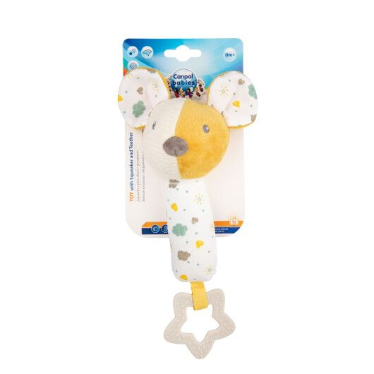 Canpol babies Іграшка плюшева з пищалкою та прорізувачем Mouse - 4