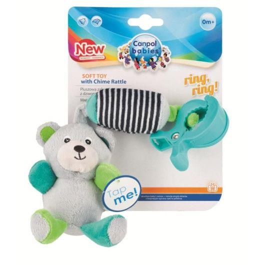 Canpol babies іграшка плюшева з дзвоником BEARS 0+