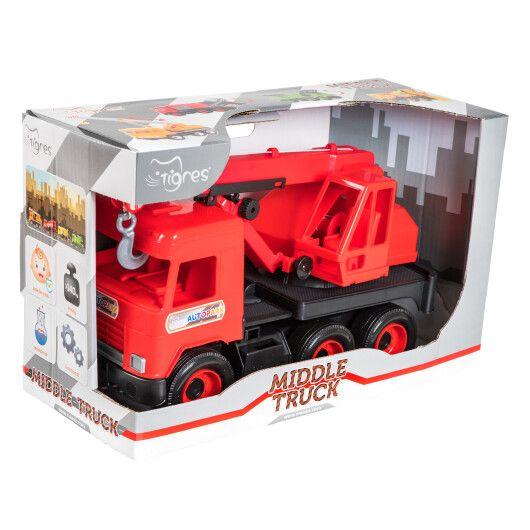"""Авто """"Middle truck"""" кран (червоний) в коробці"""