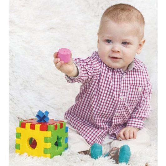"""Развивающая игрушка """"Волшебный куб"""" 12 элементов в коробке - 4"""