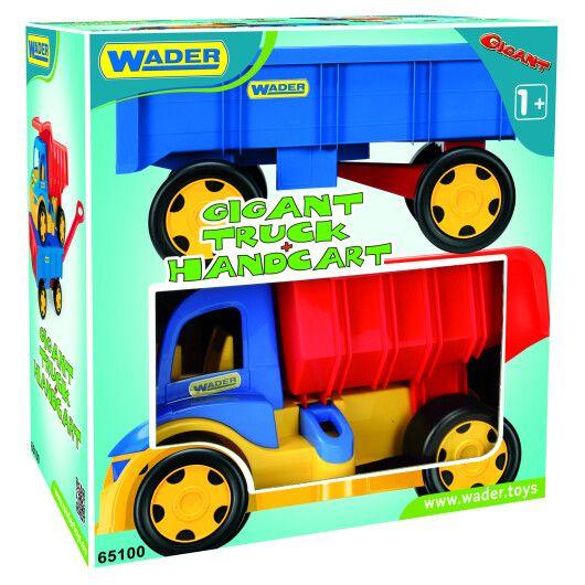 """Вантажівка """"Гігант"""" + іграшка візок"""