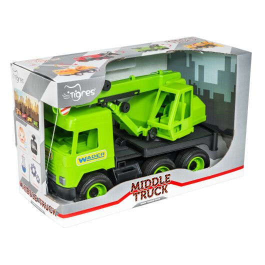 """Авто """"Middle truck"""" кран (зелений) в коробці - 2"""