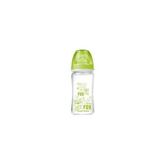 Пляшка антиколікова EasyStart ЧИСТЕскло 240 мл -Лісові друзі зелена