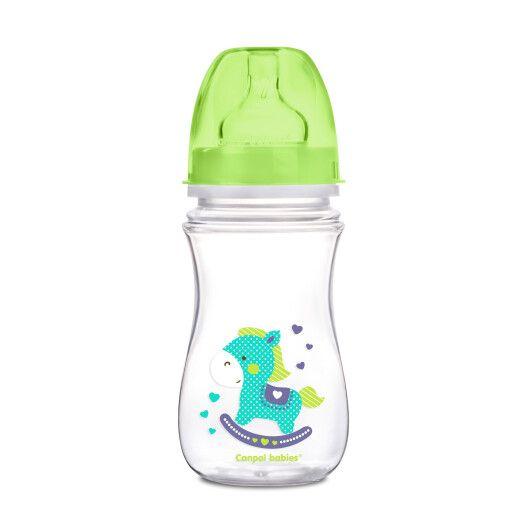 Пляшка з широким отвором антиколікова Easystart - Кольорові звірята 240 мл