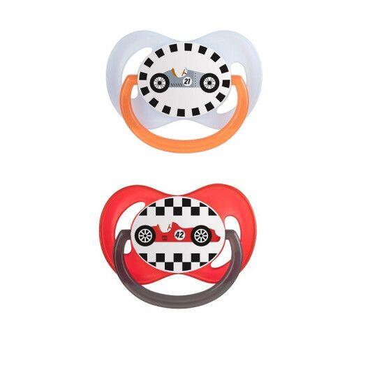 Canpol babies Пустушка силіконова симетрична 0-6 м-ців 2 шт. Racing