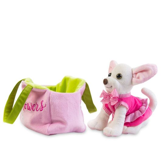 Собачка чихуахуа білий з сумочкою в сукні - 2