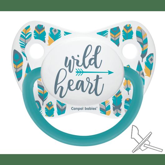 Canpol babies Пустушка силіконова анатомічна 0-6 м-ців Wild Nature - бірюзова
