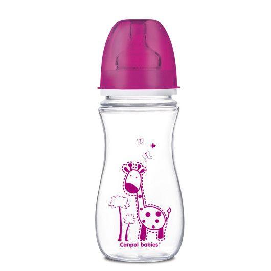 Пляшка з широким отвором антиколікова Easystart - Кольорові звірята 300 мл