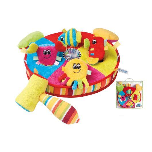 """Іграшка плюшева розвиваюча з молоточком """"Кольровий океан"""""""