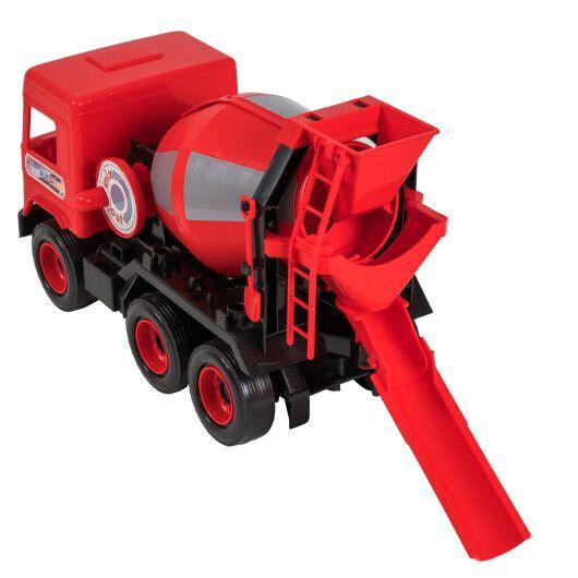 """Авто """"Middle truck"""" бетонозмішувач (червоний) в коробці - 3"""