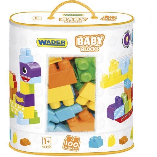 """""""Baby Blocks"""" Мої перші кубики - 100 шт (в сумці)"""