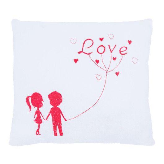 """Подушка - валентинка """"Ти і я"""" (червона)"""