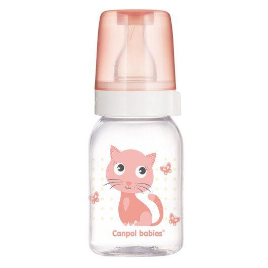 """Пляшка 120 мл з малюнком (BPA FREE), колекція """"Веселі звірята"""""""