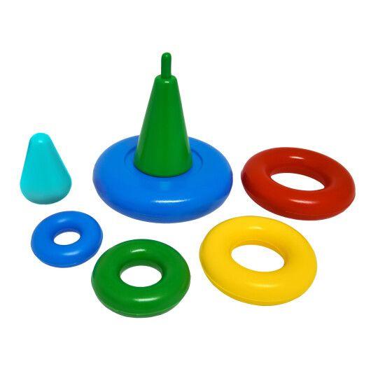 """Іграшка розвиваюча """"Пірамідка"""" мала в коробці, Tigres - 3"""