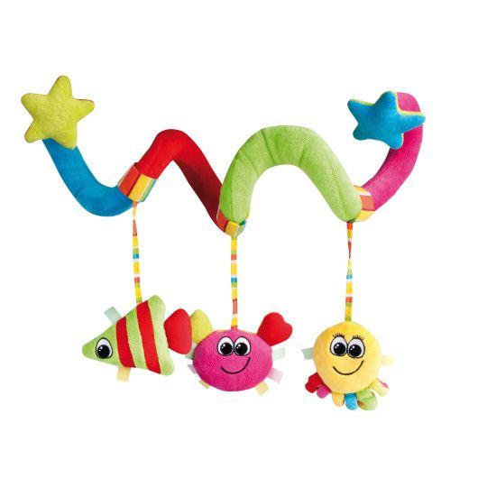 """Іграшка плюшева до вiзка спіраль """"Кольоровий океан"""""""