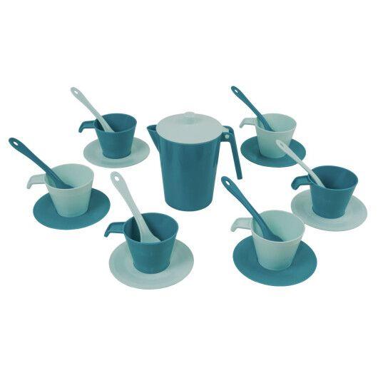 """Набір посуду кавовий """"Релакс"""" 19 ел. в коробці (ціан), Tigres - 3"""