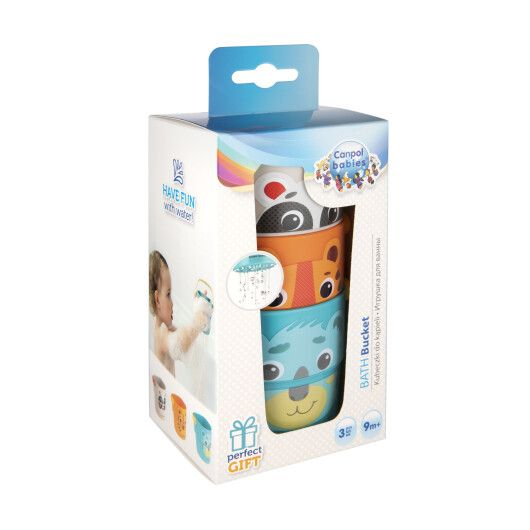 Canpol babies Іграшка-кружечки для купання HELLO LITTLE 3 шт. - 3