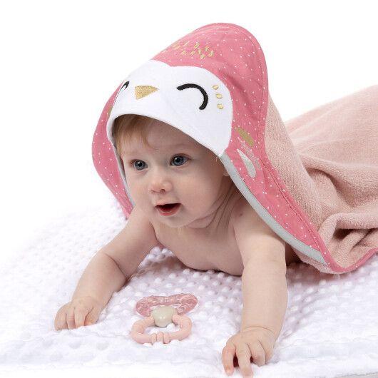 Canpol babies Полотенце після купання з капюшоном 100x100см Сова - 5