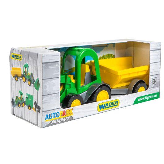 Трактор-багги з ковшем і причепом в коробці - 2