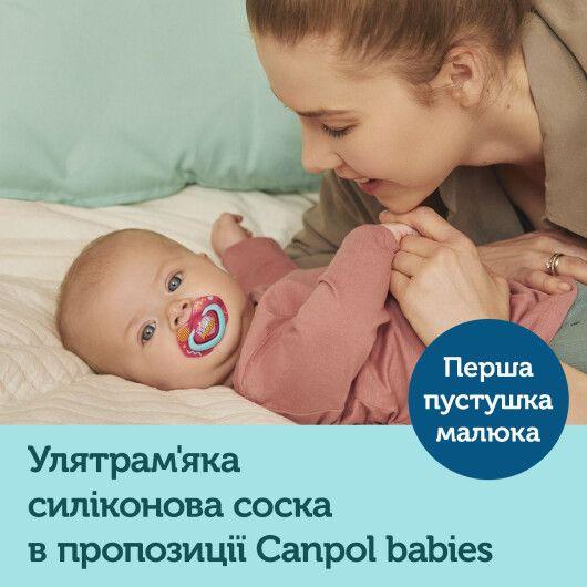 Canpol babies Пустушка силіконова симетрична 6-18 міс NEON LOVE 2 шт. - рожева - 10