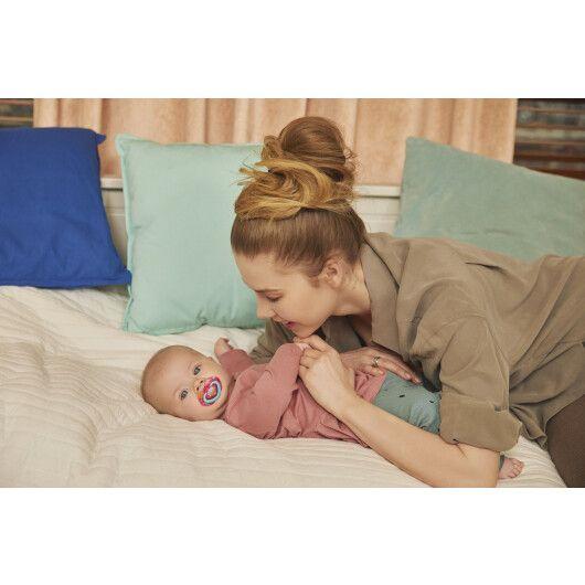Canpol babies Пустушка силіконова симетрична 6-18 міс NEON LOVE 2 шт. - рожева - 16