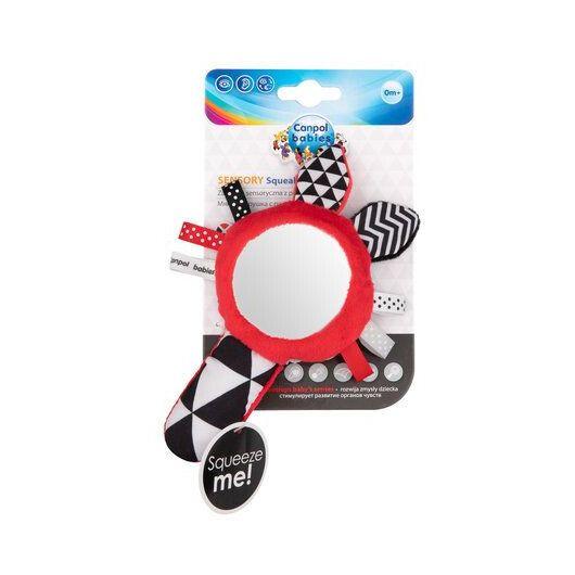 Canpol babies Іграшка м'яка розвиваюча з пищалкою Sensory Toys - 5