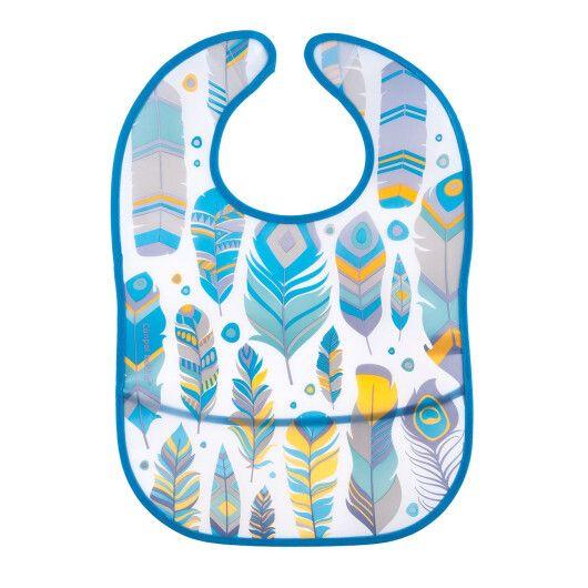 Canpol babies Слинявчик пластмасовий з кишенькою Wild Nature -  бірюзовий