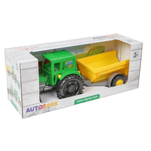 Трактор Фермер з причепом в коробці