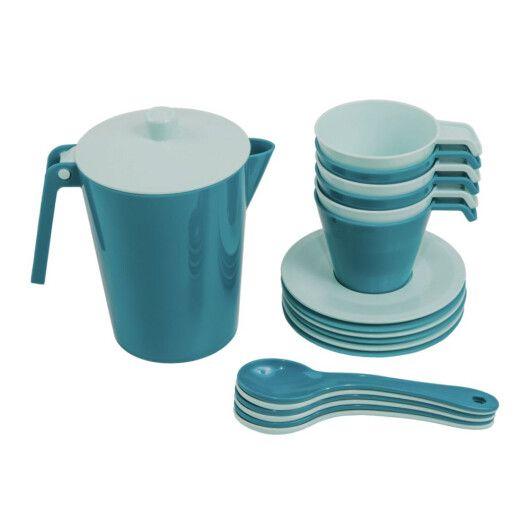 """Набір посуду кавовий """"Релакс"""" 19 ел. в коробці (ціан), Tigres - 2"""