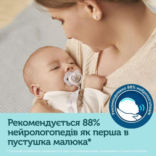 Canpol babies Пустушка силіконова симетрична 6-18 міс ROYAL BABY 2 шт. - блакитна - 10