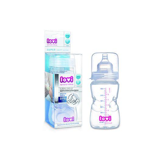 Пляшка самостерилізуюча 250 мл PP LOVI (BPA FREE)