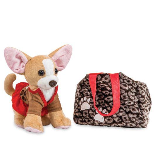 Собачка чихуахуа коричневий з сумочкою в платті - 2