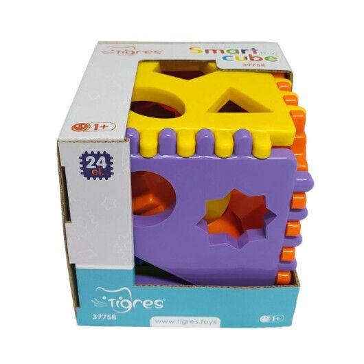 """Іграшка-сортер """"Smart cube"""" 24 ел. в коробці, Tigres"""
