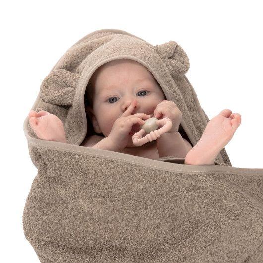 Canpol babies Полотенце після купання з капюшоном 100x100см - сіре - 6