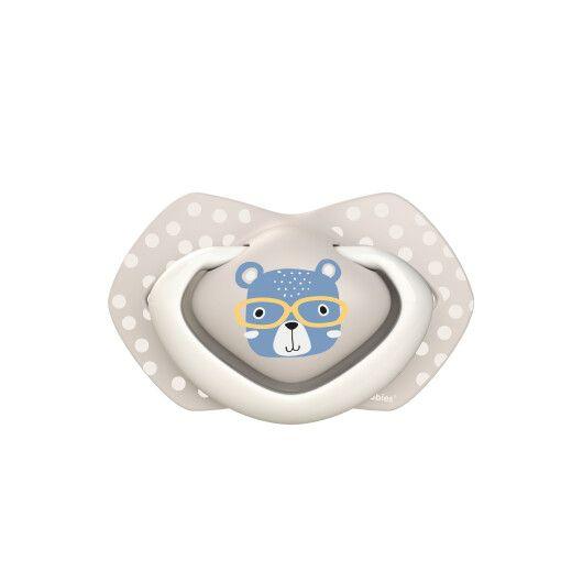 Canpol babies Пустушка силіконова симетрична 6-18 міс BONJOUR PARIS 2 шт. - блакитна - 4